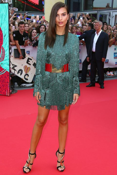 Clothing, Footwear, Event, Flooring, Dress, Red, Outerwear, Carpet, Style, Premiere,