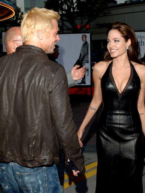ae429cd234b48 Brad Pitt and Angeline Jolie s Cutest Moments - Cute Photos of Brad ...
