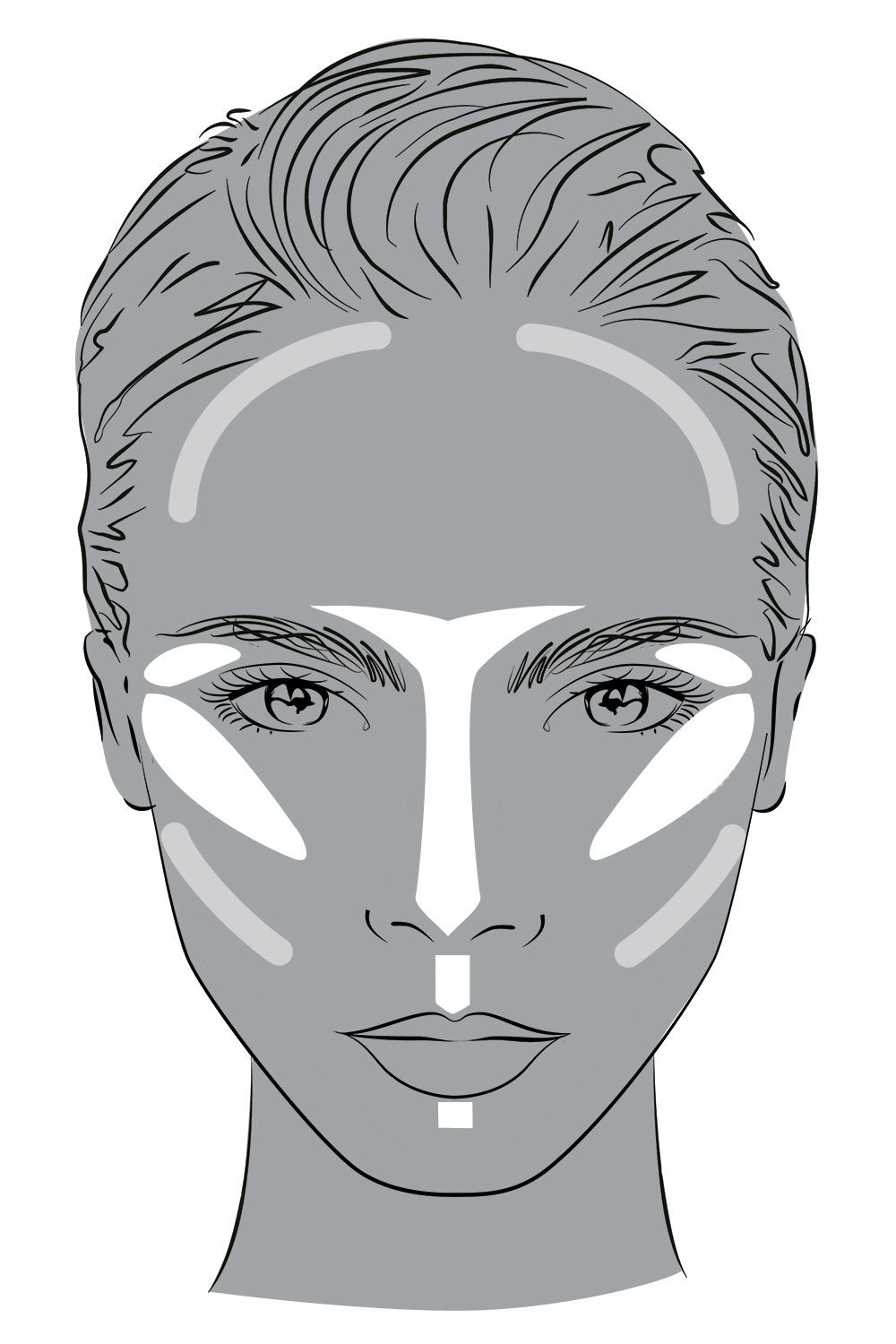 """<p>Use <a href=""""http://www.yslbeautyus.com/touche-%C3%A9clat/141YSL.html?dwvar_141YSL_color=1%20Luminous%20Radiance"""" target=""""_blank"""">YSL's Touche Éclat in 01</a>, $42, across your cheekbones, down your nose, under your brows and on your Cupid's bow to highlight. </p>"""