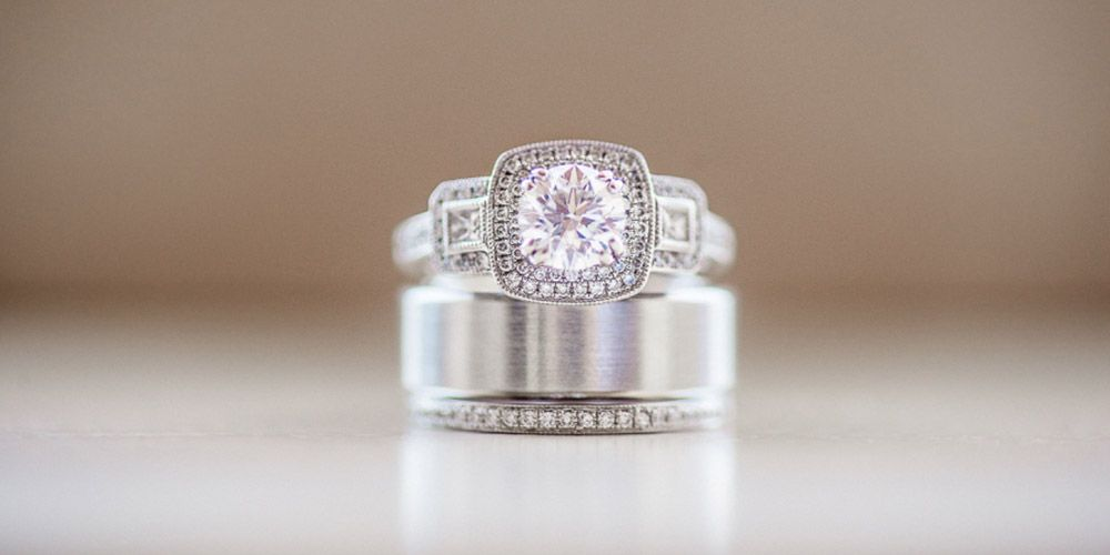 engagement halo no bling rings vs