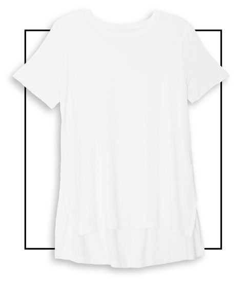 "<p>A style that is split on the sides with extra length in the back adds a relaxed tomboy touch to a streamlined look. (The <strong>Kit and Ace Court Tee ($78, </strong><a href=""https://ad.atdmt.com/c/go;p=11067200783679;a=11067200783674;ev.a=1;idfa=;idfa_lat=;aaid=;aaid_lat=;cache="">kitandace.com</a><strong>)</strong> is the easiest way to fake the '<a href=""http://www.harpersbazaar.com/fashion/trends/news/g5607/fashion-editor-styling-tricks/"" target=""_blank"">Frat Boy Shirt Tuck</a>' styling trick!)</p>"