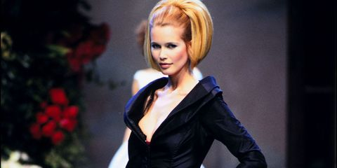 91bdee4be3639f Claudia Schiffer Best 1990s Supermodel Runway Moments - Claudia ...
