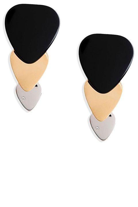 "<p><strong>Marc by Marc Jacobs</strong> earrings, $95, <strong><a href=""https://shop.harpersbazaar.com/designers/m/marc-by-marc-jacobs/plectrum-trio-earrings-4888.html"" target=""_blank"">shopBAZAAR.com</a></strong>.</p>"