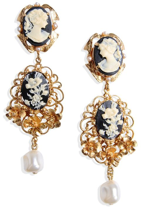 "<p><strong>Dolce & Gabbana</strong> earrings, $975, <strong><a href=""https://shop.harpersbazaar.com/designers/d/dolce-and-gabbana/cameo-faux-pearl-clip-earrings-5614.html"" target=""_blank"">shopBAZAAR.com</a></strong>.</p>"
