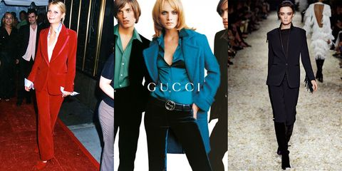 <p>To whether or not you're wearing velvet. From his early collections at Gucci (including a red suit worn by Gwyneth Paltrow) to his most recent Fall runway, the ultra-luxe fabrication is a go-to for Ford. </p>