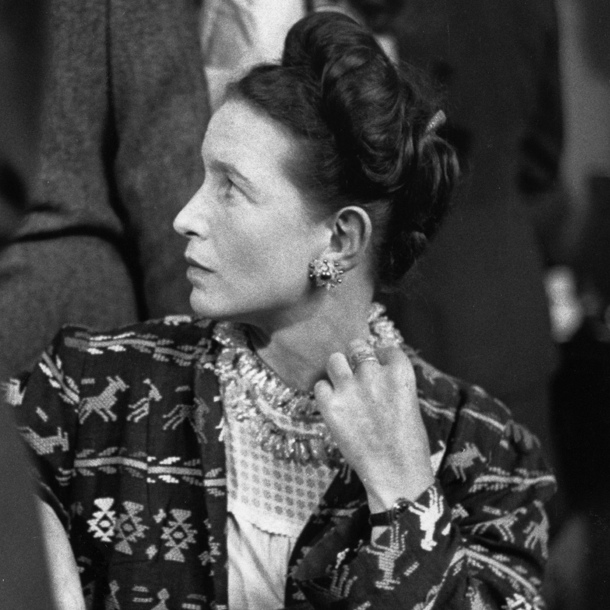 <p>Author, existentialist and feminist, Simone de Beauvoir wrote novels, biographies and essays. Most well-known for <em>The Second Sex</em>, a social analysis of women's oppression, de Beauvoir's look contained a little bit of the unfiltered insouciance seen in the French fashion scene: jackets that were a bit too big, tattered purses and dresses verging on frumpy were paired with costume jewelry that resulted in an ironic form of ugly-chic in the best possible way.</p>