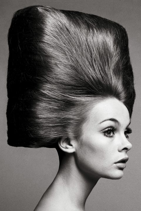 <p><em>Hair by Alexandre, Paris, August 3, 1965. Photographed by Richard Avedon. </em></p><p>The poster child for the youthquake movement coming out of London in the 1960s, Jean Shrimpton was to modeling what the Rolling Stones were to music. Before her, models had been statuesque, poised, and perfectly coiffed. But Jean was diminutive and gangly, her hair fringed and wild, and she was not afraid to wear the scandalous garment of the time: the miniskirt. Richard Avedon would go on to make some of the most memorable images to appear in <em>Bazaar</em> in the '60s with her. Avedon's portrait of Jean with her hair pulled back into a square-shaped beehive has practically become a required text for hairstyles since it was published in <em>Bazaar</em> in 1965. </p>