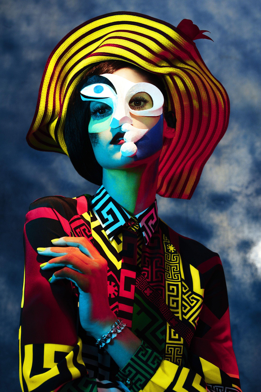 "<p><i>Woman in Beret and Plaid Dress, </i>1937. </p><p><strong>Versace </strong>blouse, $1,250, 888-721-7219&#x3B; <strong>Kokin</strong> hat, $1,995, <a href=""http://www.kokinnewyork.com/"" target=""_blank"">kokinnewyork.com</a>&#x3B; <strong>Bulgari bracelet</strong>, $57,000, <a href=""http://www.bulgari.com/en-us/"" target=""_blank"">bulgari.com</a>.</p><p><br></p>"