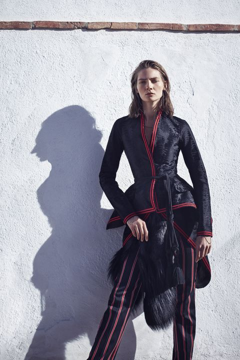 "<p><strong>Givenchy by Riccardo Tisci </strong>coat, jacket (in hand) and pants, price upon request, <a href=""http://www.givenchy.com"" target=""_blank"">givenchy.com</a>; <strong>Beladora</strong> necklace, $3,000, <a href=""http://www.beladora.com"" target=""_blank"">beladora.com</a>; <strong>Lanvin</strong> belt, $960, <a href=""https://shop.harpersbazaar.com/designers/lanvin/marina-tassle-belt/"" target=""_blank"">shopBAZAAR.com</a>; <strong>Maniamania</strong> bracelets, $180 each, <a href=""http://www.themaniamania.com/"" target=""_blank"">themaniamania.com</a>. </p>"