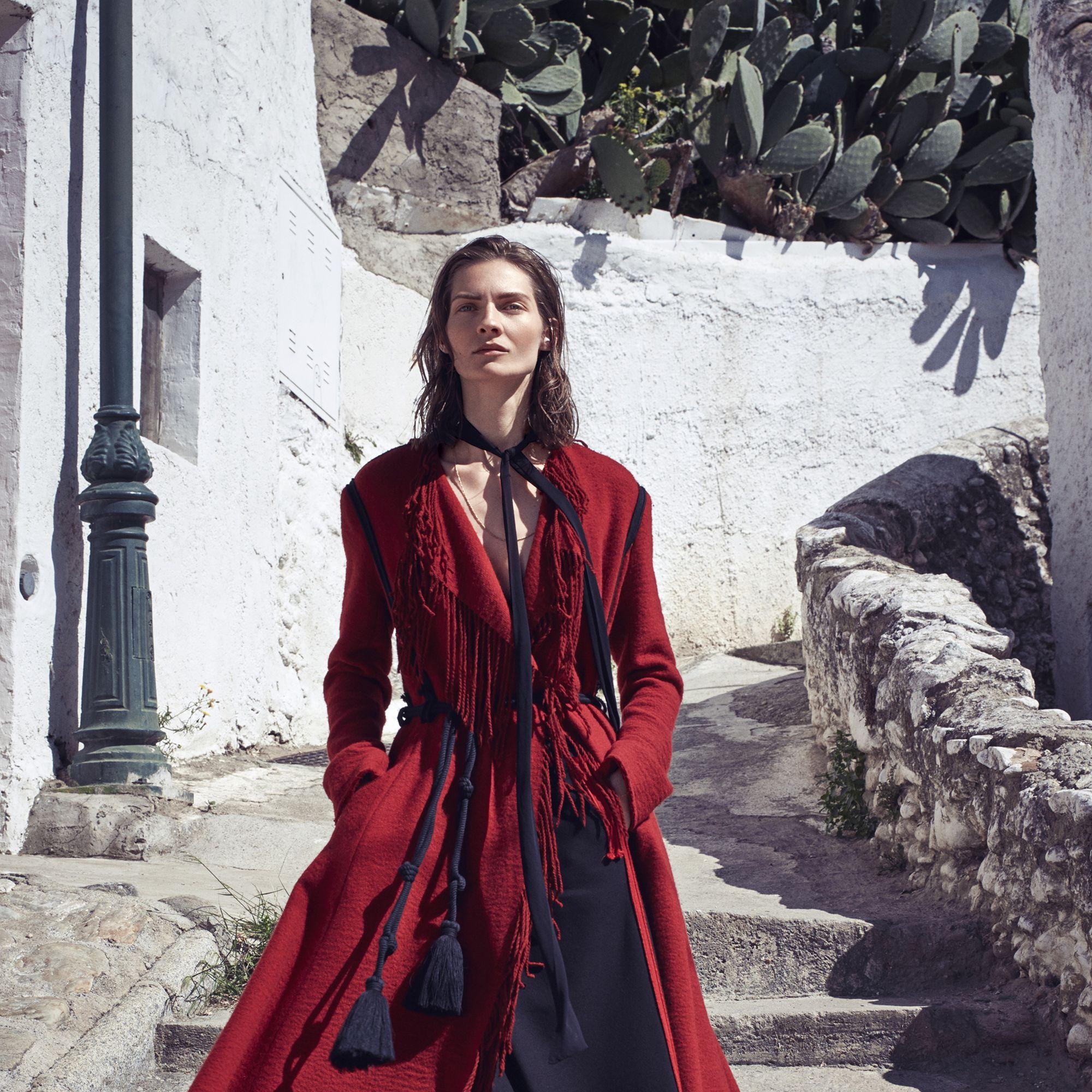 "<p><strong>Lanvin </strong>coat, $4,870, and skirt, $1,965, 646-439-0380&#x3B; <strong>Chloe </strong>scarf, $195, <a href=""http://www.saksfifthavenue.com/Chloe/Women-s-Apparel/shop/_/N-1z12st3Z52flogZ6lvnb8/Ne-6lvnb6?Ns=P_arrivaldate%7C1%7C%7CP_306418048_sort%7C%7CP_brandname%7C%7CP_product_code"" target=""_blank"">saks.com</a>&#x3B; <strong>Beladora</strong> necklace, $3,000, <a href=""http://www.beladora.com/"" target=""_blank"">beladora.com</a>&#x3B; <strong>Lanvin </strong>belt, similar styles available at <a href=""https://shop.harpersbazaar.com/designers/lanvin/marina-tassle-belt/"" target=""_blank"">shopBAZAAR.com</a>&#x3B; <strong>Gucci</strong> shoes, $995, <a href=""https://shop.harpersbazaar.com/designers/gucci/fur-lined-slip-on-loafer/"" target=""_blank"">shopBAZAAR.com</a>. </p>"