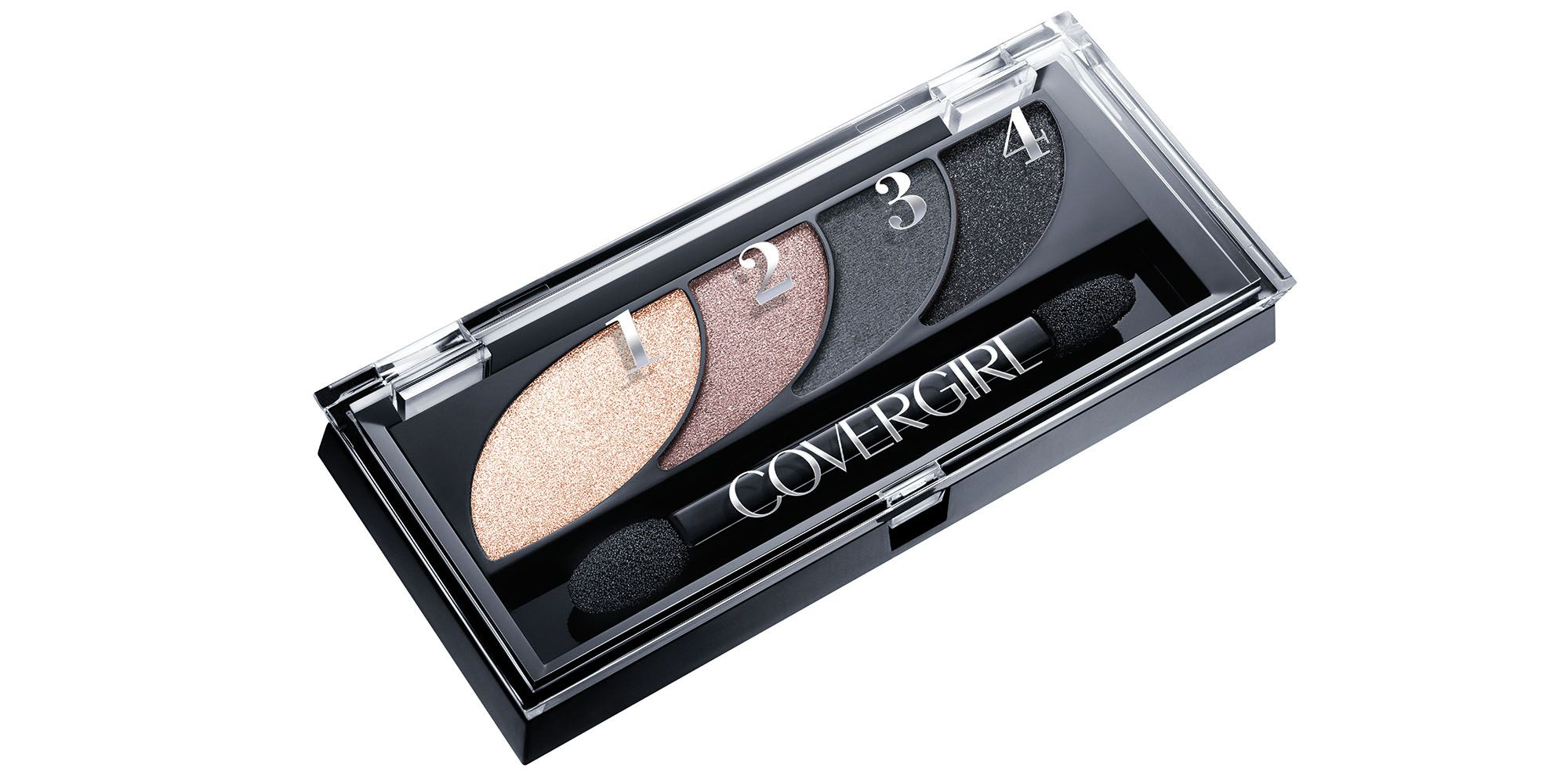 "<p>""The eyes are extremely strong, with a cat shape,"" says Pecheux, who rimmed the lash line with black pencil before blending matte black and gray shadows across the lids.</p><p><strong>CoverGirl</strong> Eye Shadow Quad in Stunning Smokeys, $8, <a href=""http://www.covergirl.com/beauty-products/eye-makeup/eyeshadow/eye-shadow-quad"" target=""_blank"">covergirl.com</a>.</p>"