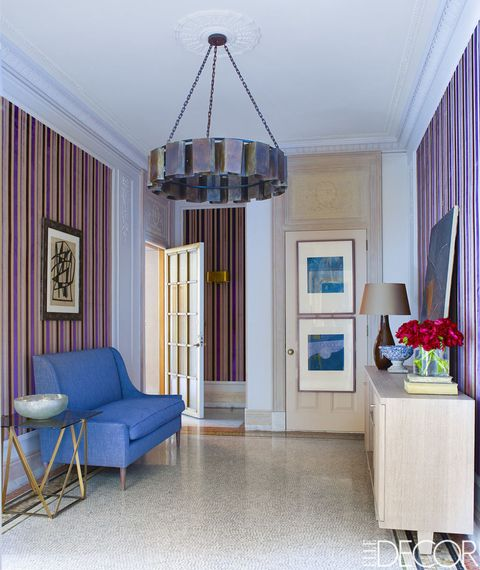 """<p>We're used to seeing the fashionable print in blue-and-white – à la classical nautical style – but come fall, the staple is taking on a colorful new look — one that will brighten up any room.</p><p><a href=""""http://www.elledecor.com/design-decorate/house-interiors/g2537/house-tour-stephen-sills-designed-manhattan-apartment/"""" target=""""_blank"""">Tour the entire home.</a></p>"""