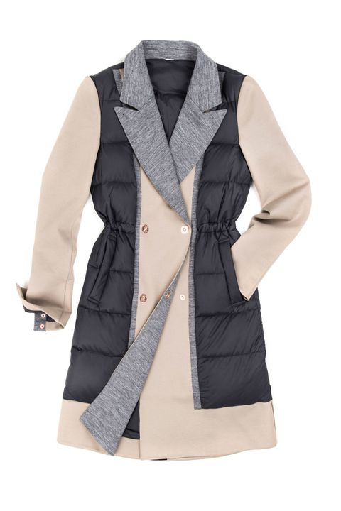 "<p>You'll never again have to choose between looking polished on your commute to work (and wearing a trench) or staying warm (and breaking out the puffer). This gorgeous topper has the tailored cut of the former with the warmth of the latter.</p><p><em>Kit and Ace Ashford Trench, $348, </em><strong><em><a href=""https://ad.atdmt.com/c/go;p=11067200804217;ev.a=1;idfa=;idfa_lat=;aaid=;aaid_lat=;cache="" target=""_blank"">kitandace.com</a>.</em></strong></p>"