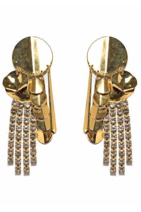 "<p>The single statement earring, a la Louis Vuitton and Rosie Assoulin eased us into what is now a full-on '80s earrings comeback—the bigger, the golder, the more rhinestones, the chicer. </p><p><em>Lizzie Fortunato earrings, $290, <a href=""https://shop.harpersbazaar.com/Designers/L/Lizzie-Fortunato/The-Souk-Earrings-5610.html#"" target=""_blank"">shopBAZAAR.com</a><img src=""http://assets.hdmtools.com/images/HBZ/Shop.svg"" class=""icon shop"">.</em></p>"