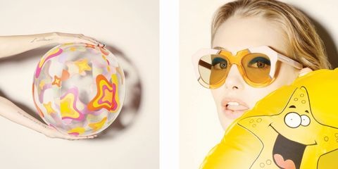 latest eyewear eaj5  For her latest eyewear collection, Karen Walker turned to David Hockney for  inspiration, redoing some of her signature frames inturquoises, aquas,