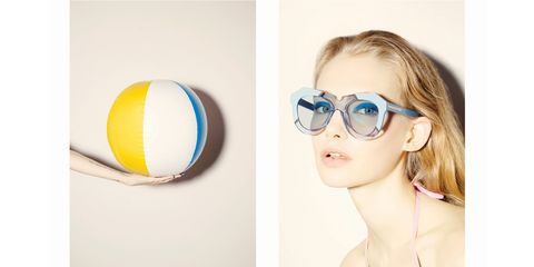 Eyewear, Ear, Glasses, Vision care, Goggles, Ball, Eye glass accessory, Photography, Sunglasses, Blond,