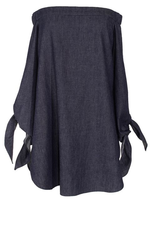 "<p><strong>Tibi</strong> top, $295, <strong><a href=""https://shop.harpersbazaar.com/Designers/T/Tibi/Lightweight-Denim-Off-The-Shoulder-Tunic-5583.htmlhttps://shop.harpersbazaar.com/Designers/T/Tibi/Lightweight-Denim-Off-The-Shoulder-Tunic-5583.html"" target=""_blank"">shopBAZAAR.com</a>.</strong></p>"