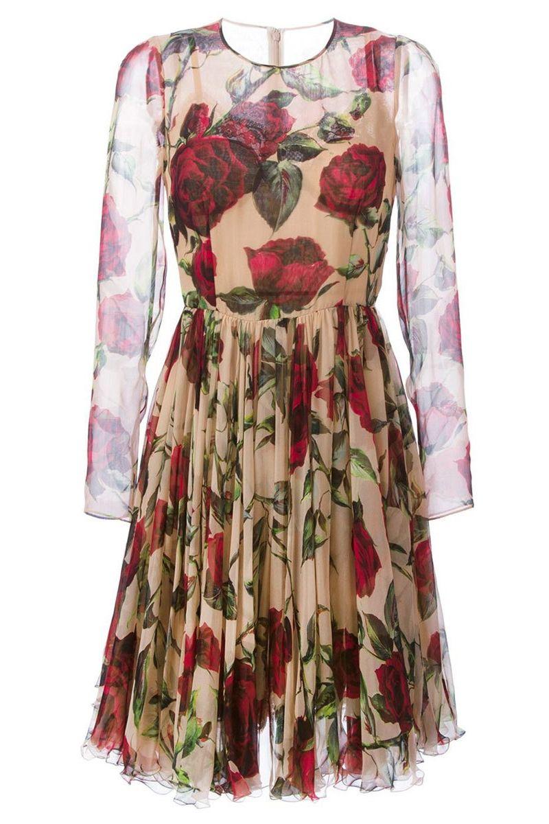 """<p><strong>Dolce & Gabbana</strong> dress, $4,995, <a href=""""https://shop.harpersbazaar.com/designers/dolce-gabbana/rose-silk-chiffon-dress/"""" target=""""_blank""""><strong>shopBAZAAR.com</strong></a>.</p>"""