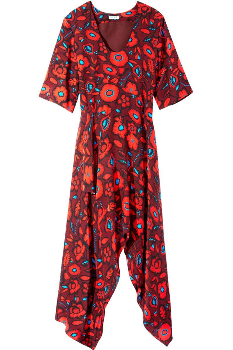 """<p><strong>Kenzo</strong> dress, $785, <strong><a href=""""https://shop.harpersbazaar.com/Designers/K/Kenzo/Shadow-Flowers-Print-Silk-Jaquard-SS-Hankerchief-Maxidress-5136.html"""" target=""""_blank"""">shopBAZAAR.com</a></strong>.</p>"""