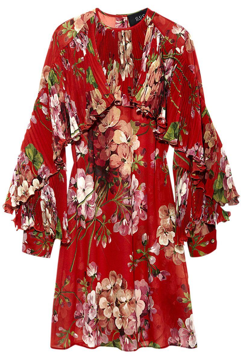 """<p><strong>Gucci</strong> dress , $2,900, <a href=""""https://shop.harpersbazaar.com/designers/g/gucci/geranium-dress.html"""" target=""""_blank""""><strong>shopBAZAAR.com</strong></a>.</p>"""