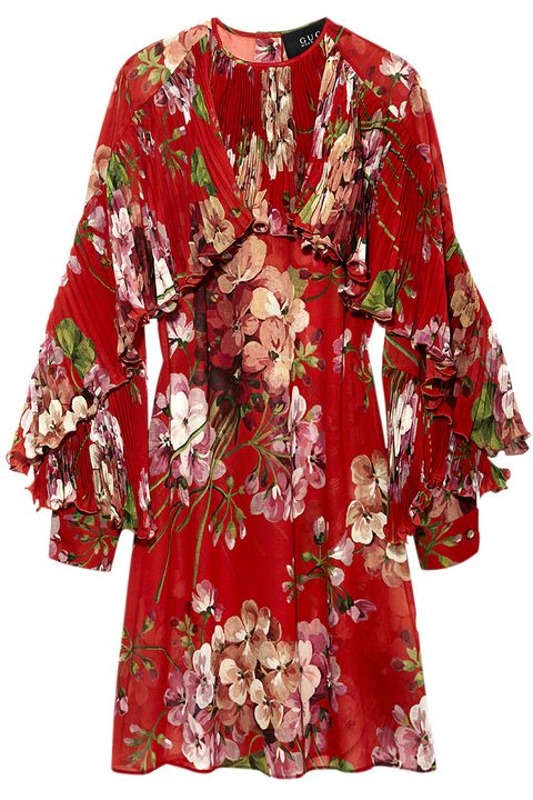 "<p><strong>Gucci</strong> dress , $2,900, <a href=""https://shop.harpersbazaar.com/designers/g/gucci/geranium-dress.html"" target=""_blank""><strong>shopBAZAAR.com</strong></a>.</p>"