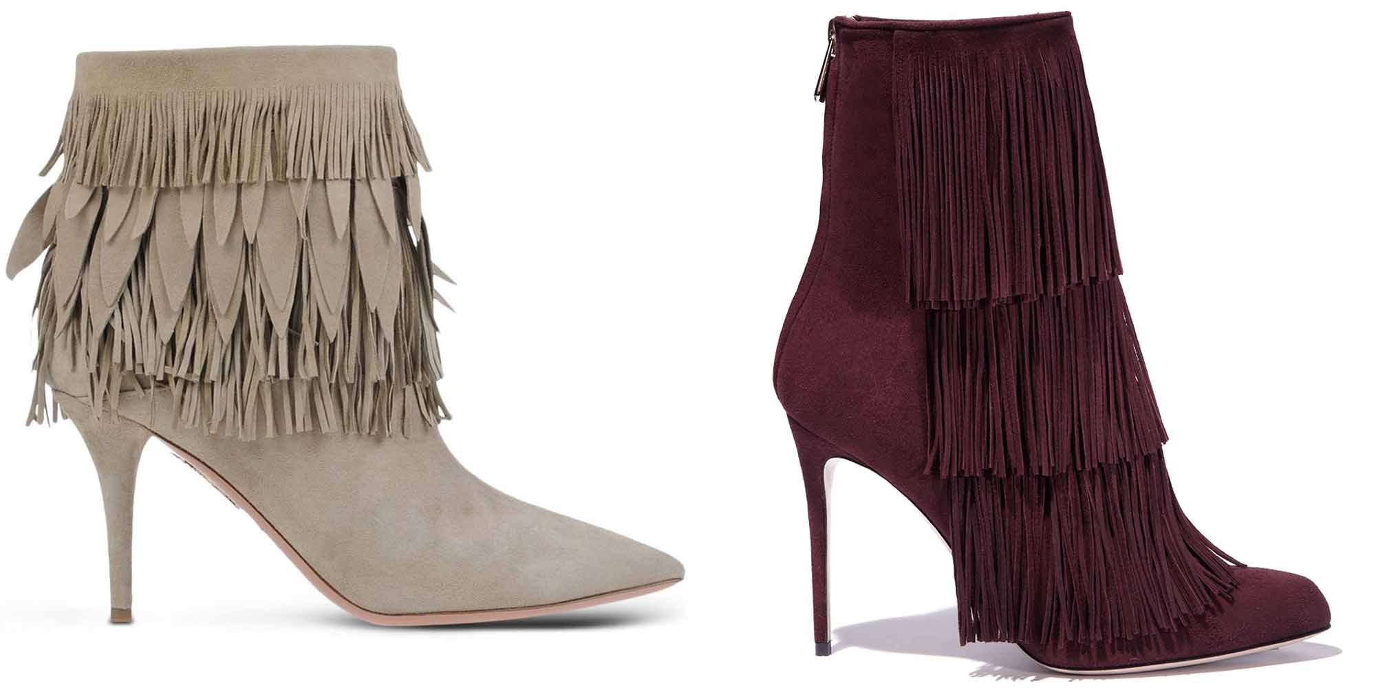 "<p><em>Aquazzura boot, $995, <a href=""https://shop.harpersbazaar.com/designers/a/aquazzura/beige-suede-fringed-ankle-boot-4968.html"" target=""_blank"">shopBAZAAR.com</a>; Paul Andrew boot, $1,195, <a href=""https://shop.harpersbazaar.com/designers/paul-andrew/bordeaux-fringe-boot-12/"" target=""_blank"">shopBAZAAR.com</a>. </em></p>"