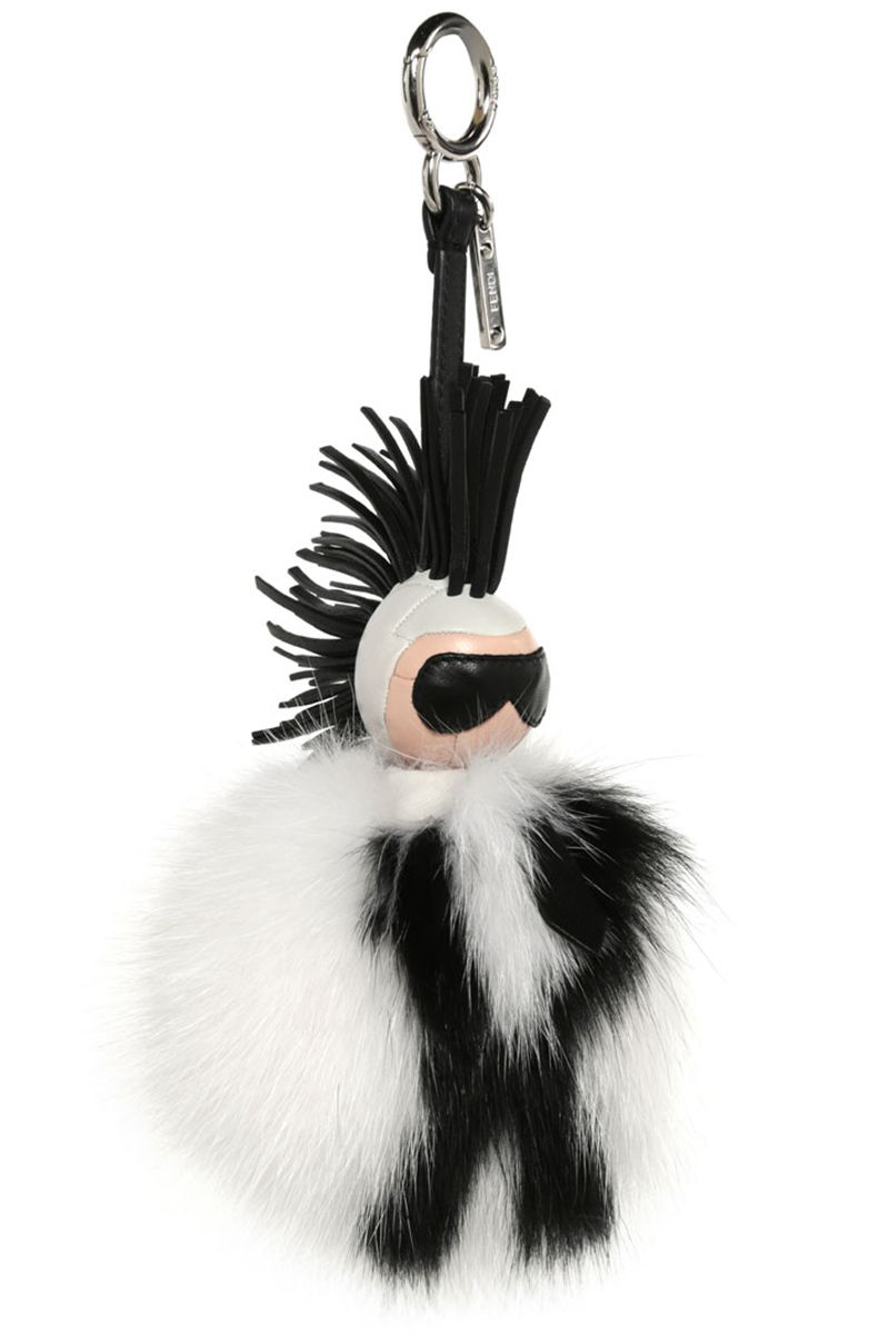 "<p><strong>Fendi</strong> ""Karlito"" keychain, $1,450, <strong><a href=""https://shop.harpersbazaar.com/designers/fendi/karlito-fur-keychain/"" target=""_blank"">shopBAZAAR.com</a></strong>. </p>"