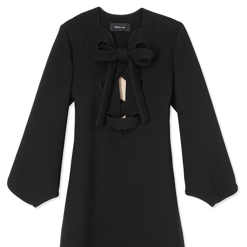 "<p><strong>Derek Lam</strong> dress, $1,590, <strong><a href=""https://shop.harpersbazaar.com/designers/derek-lam/lace-up-shift-dress-with-full-sleeve/"" target=""_blank"">shopBAZAAR.com</a></strong>.</p>"
