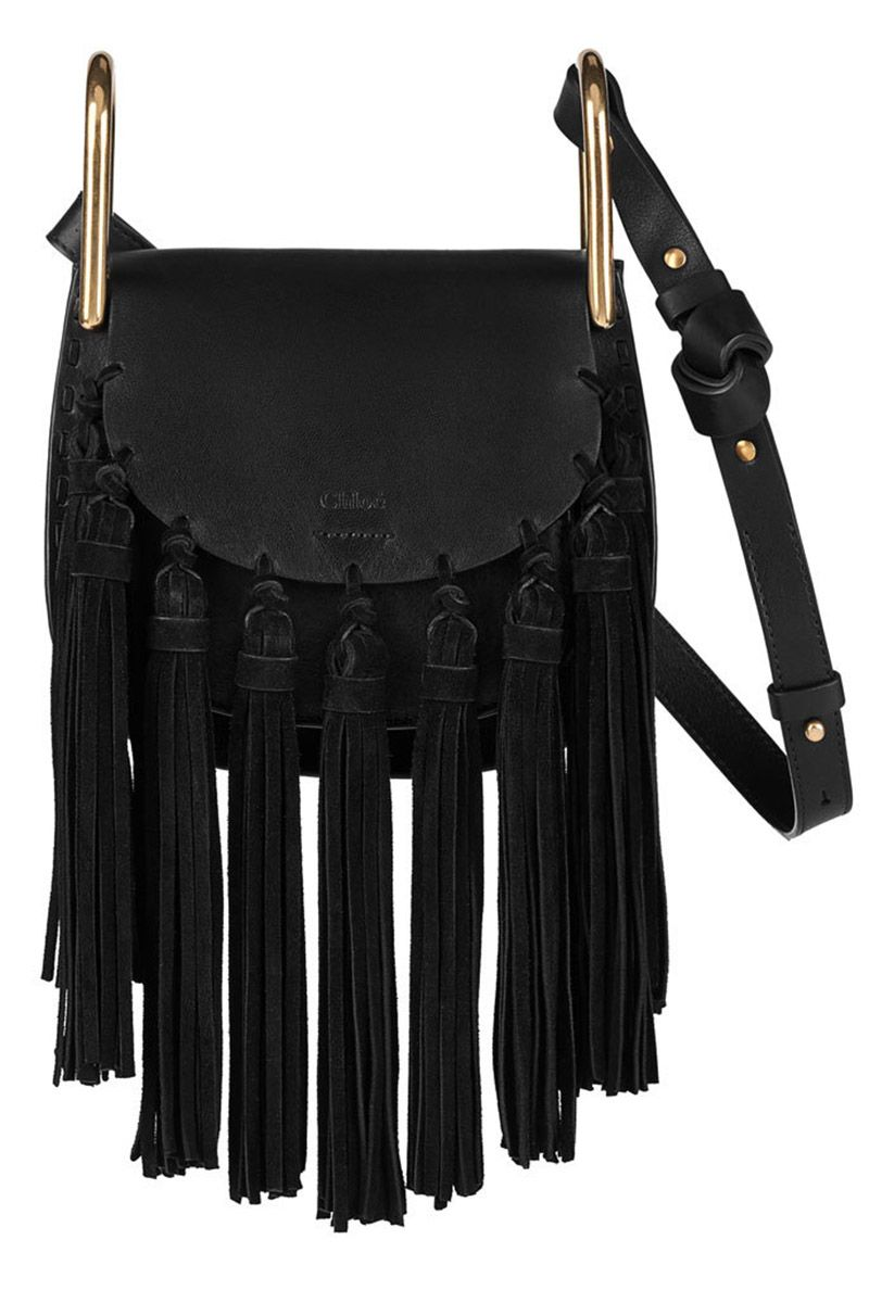 "<p><strong>Chloe</strong> bag, $2,150, <a href=""https://shop.harpersbazaar.com/designers/chloe/mini-hudson-suede-tassel/"" target=""_blank""><strong>shopBAZAAR.com</strong></a>.</p>"
