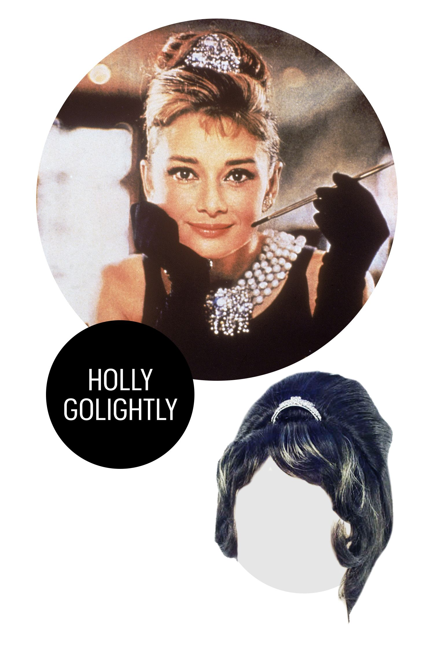 "<p>Golightly is the ultimate girl about town, so instead of spending hours in the salon getting her <a href=""http://www.marieclaire.com/beauty/a9490/holly-golightly-costume-audrey-hepburn-style/"" target=""_blank"">signature blonde highlights</a> and perfectly-coiffed bouffant, throw this little number on with an LBD and a string of pearls.</p><p>Holly GolightlyBreakfast at Tiffany's Wig, $31; <a href=""http://www.mycostumewigs.com/hollygolightly.html?utm_source=hollygolightly&utm_medium=shopping%2Bengine&utm_campaign=googleproducts&gclid=CLXi2vnQ-8cCFYgUHwodq7QF1A"" target=""_blank"">mycostumewigs.com</a>.<br></p>"