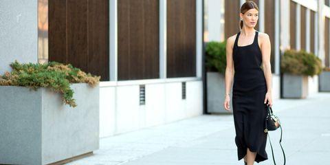 Clothing, Human body, Shoulder, Bag, Joint, Dress, Style, Fashion accessory, Street fashion, Waist,