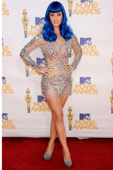 <p>She made her contribution to the history of the naked dress in this Zuhair Murad mini at the 2010 MTV Movie Awards.</p>