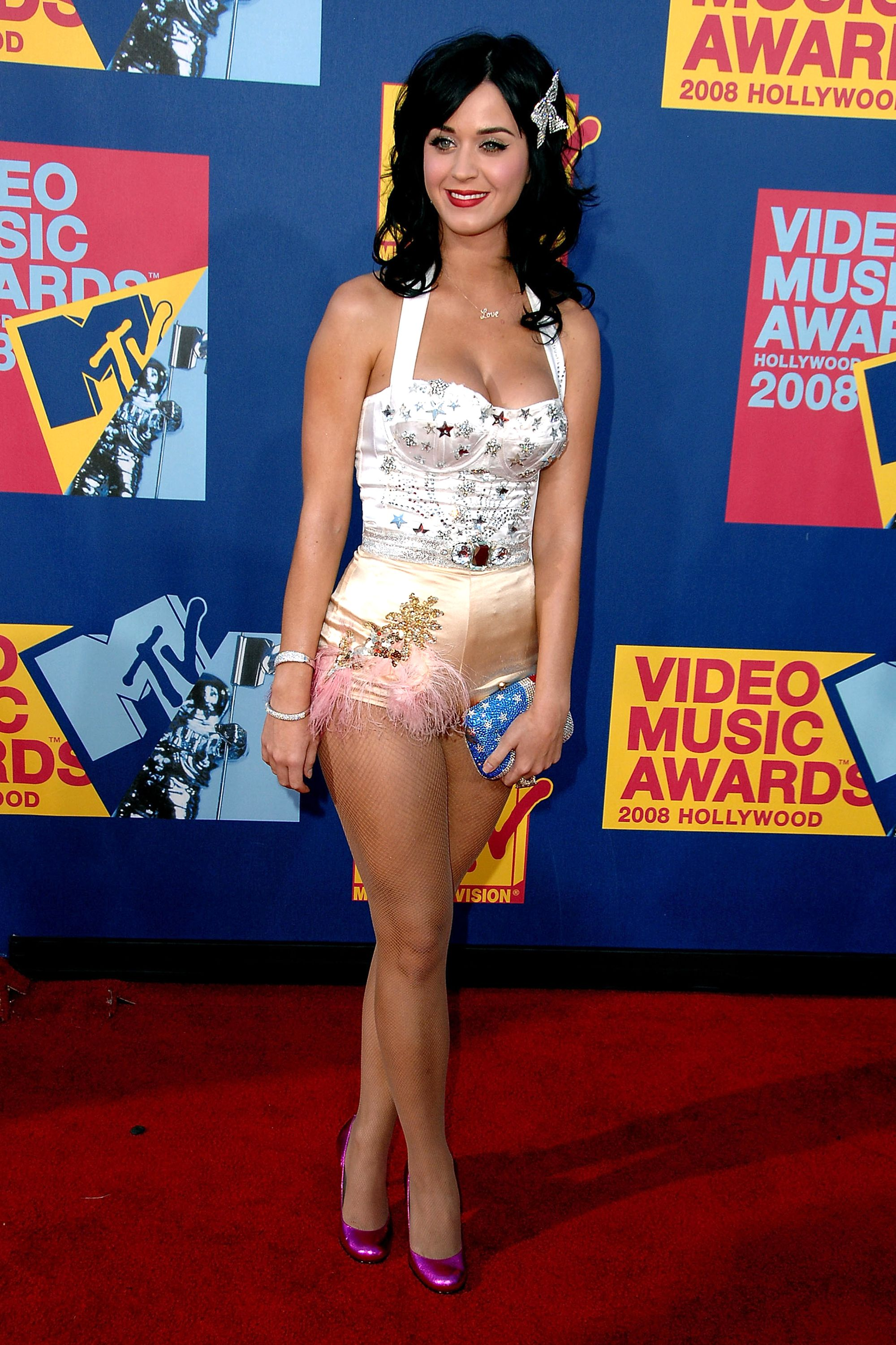 <p>Before she was a high fashion darling, she made her mark in playful, vintage inspired outfits like this ensemble from the 2008 MTV Video Music Awards. </p>