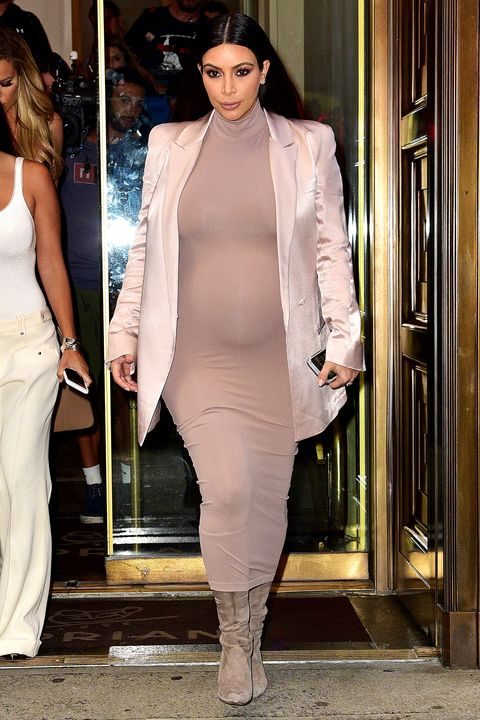 8ed19b4d9ba57 Kim Kardashian Shows Off Baby Bump in Sheer Dress at Givenchy Spring ...