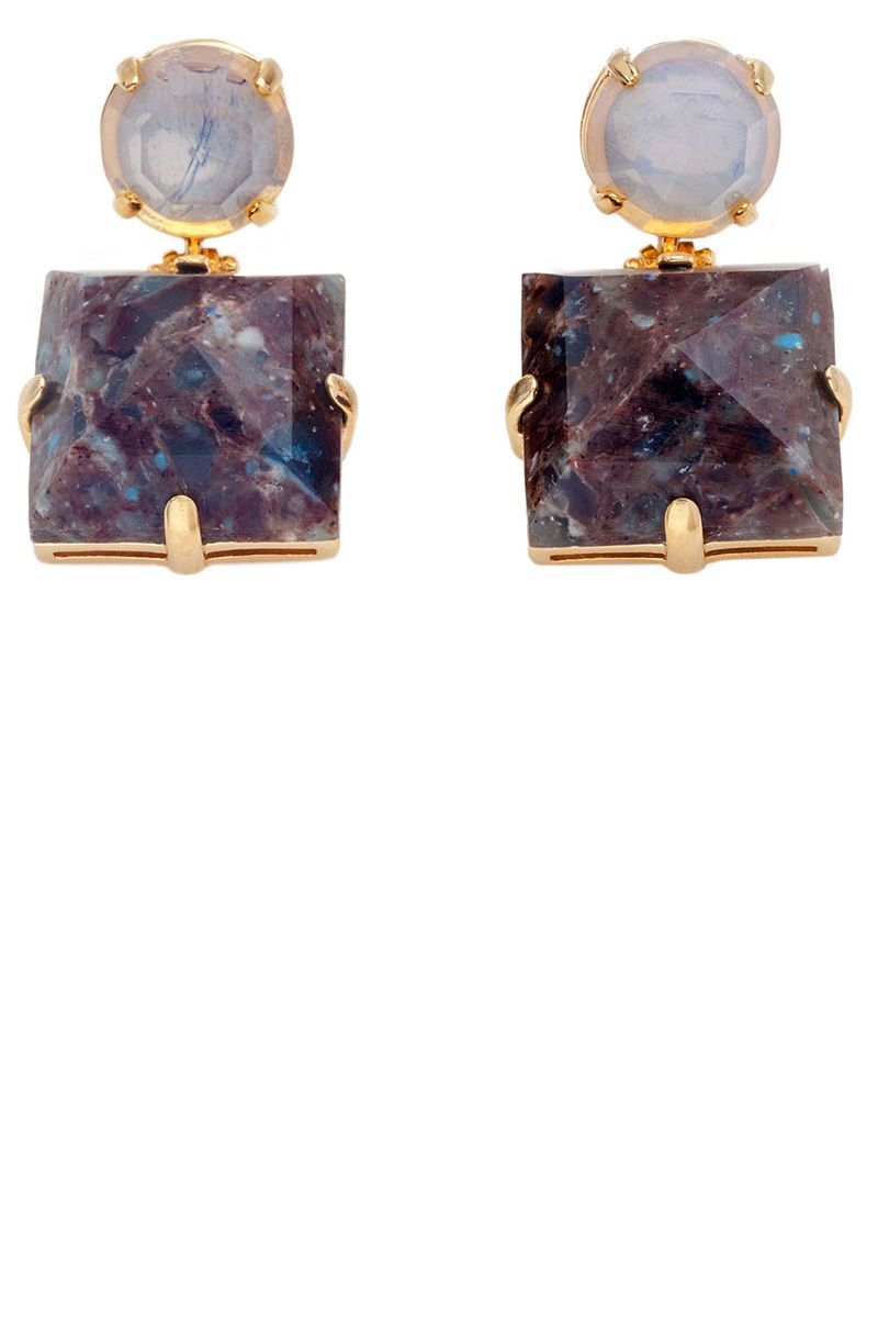 "<p><strong>Lele Sadoughi</strong> earrings, $165, <strong><a href=""https://shop.harpersbazaar.com/Designers/L/Lele-Sadoughi/Solar-Drop-Earrings-5859.html"" target=""_blank"">shopBAZAAR.com</a></strong>. </p>"
