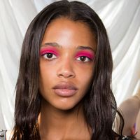 <p>Flashes of bright matte shadow applied across the entire lid infused Giambattista Valli's younger sister line with pop and playfulness.</p>