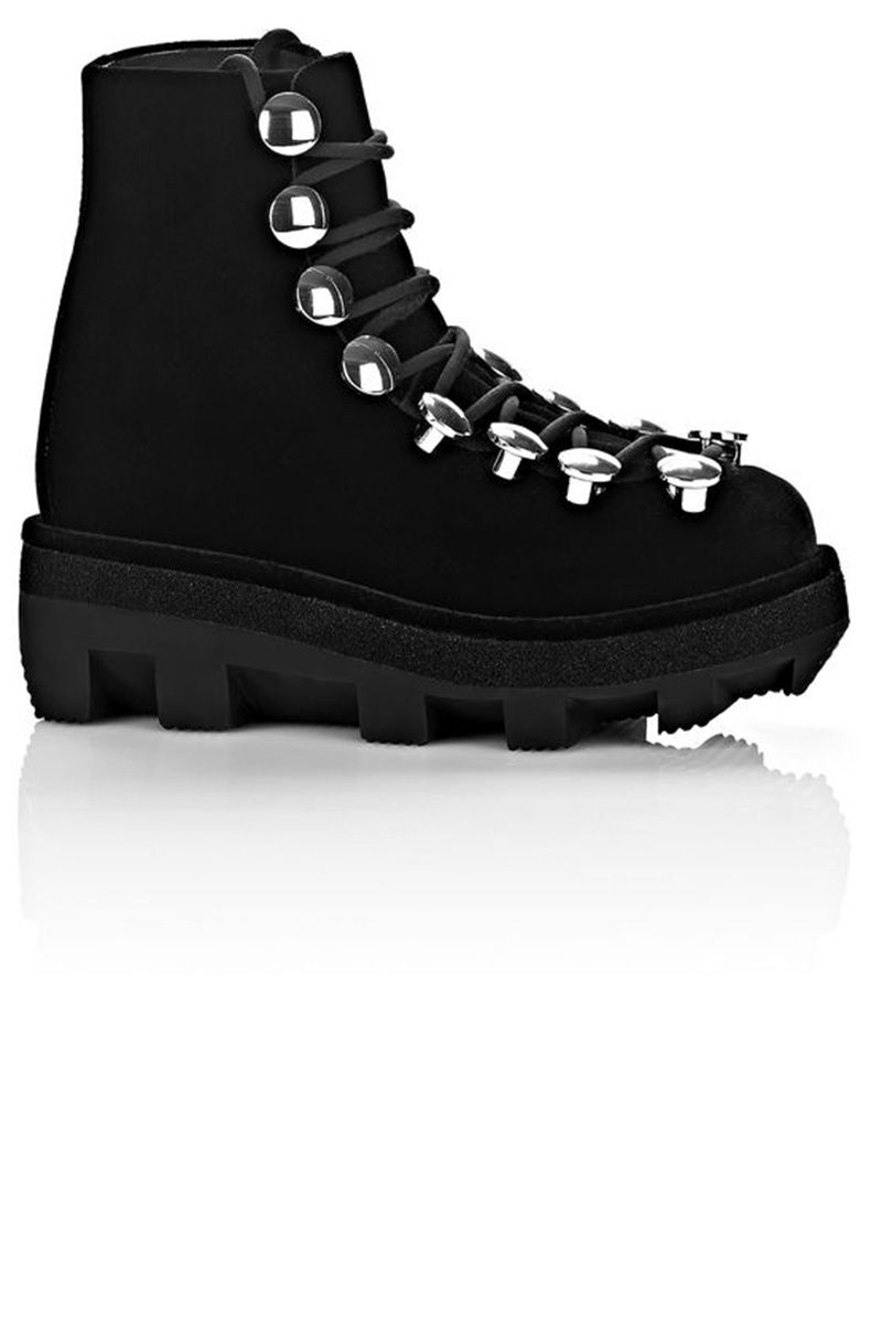 """<p><strong>Alexander Wang </strong>boot, $1,095, <a href=""""http://www.alexanderwang.com/us/shop/women/shoes-boots-sam-low-lace-up-boot_cod44916468mx.html"""" target=""""_blank"""">alexanderwang.com</a>.</p>"""