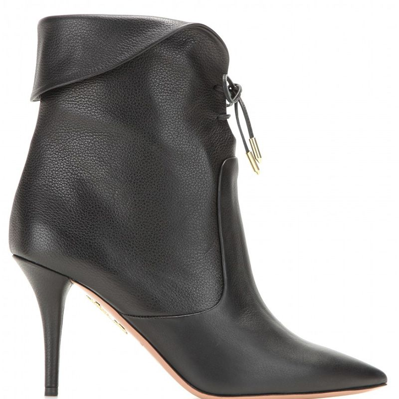 """<p><strong>Aquazarra </strong>boot, $887, <a href=""""http://www.mytheresa.com/en-us/tribeca-leather-ankle-boots.html"""" target=""""_blank"""">mytheresa.com</a>.</p>"""