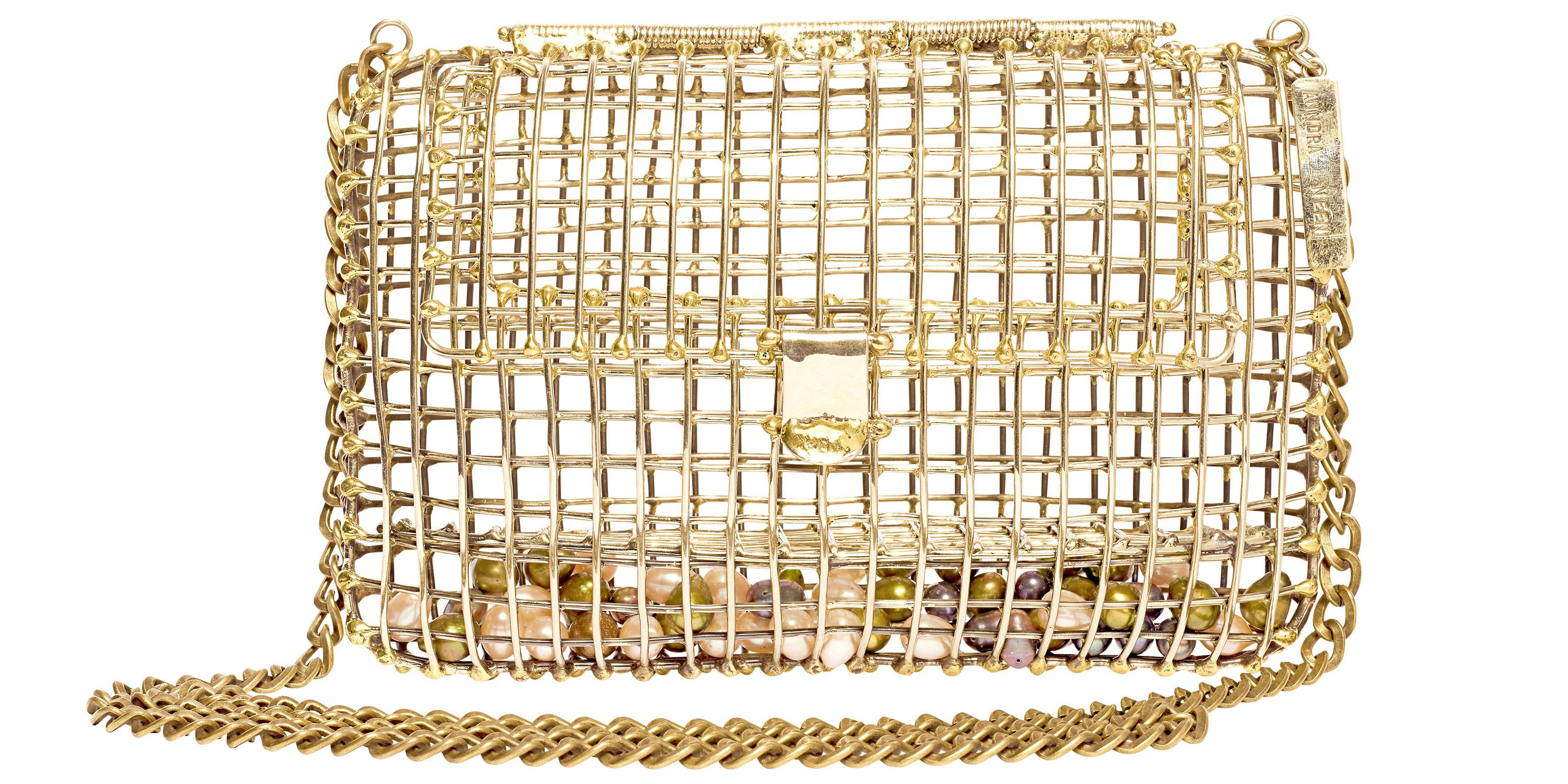 "<p><strong>Handbag:</strong> ""For evening, I love the gold cage bag by Anndra Neen."" </p><p><strong>Anndra Neen </strong>bag, $850, <a href=""https://shop.harpersbazaar.com/designers/a/anndra-neen/pearl-cage-bag.html"" target=""_blank"">shopBAZAAR.com</a>.<br></p>"