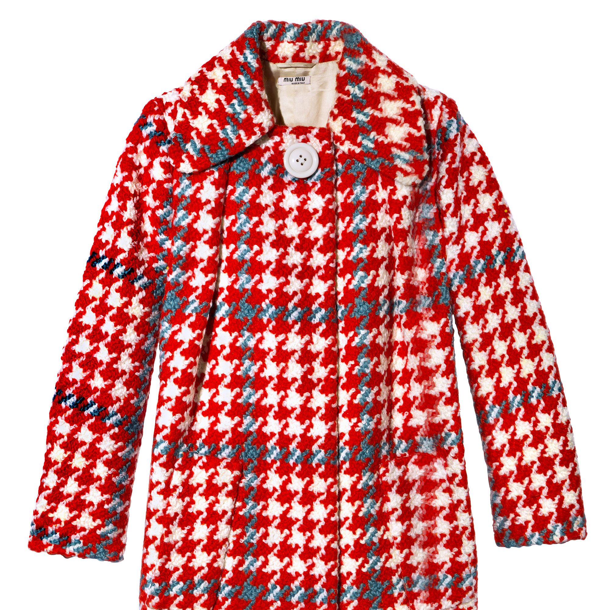 "<p><strong>Fall Coat: </strong>""A plaid Miu Miu version makes a statement.""