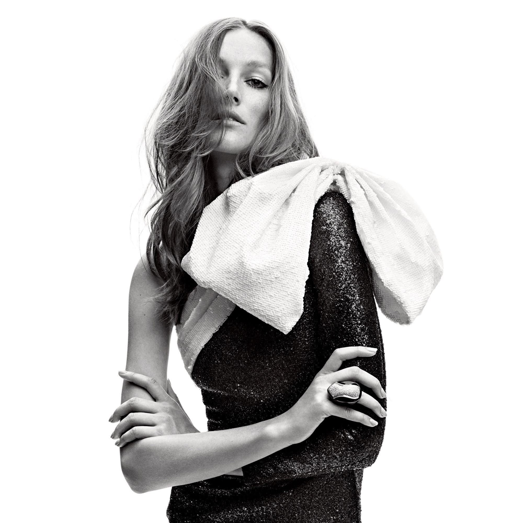 "<p><strong>Saint Laurent by Hedi Silmane </strong>dress, price upon request, 212-980-2970&#x3B; <strong>Jill Heller</strong> ring, $7,500, <a href=""https://shop.harpersbazaar.com/"" target=""_blank"">shopBAZAAR.com</a>.</p><p><br></p>"