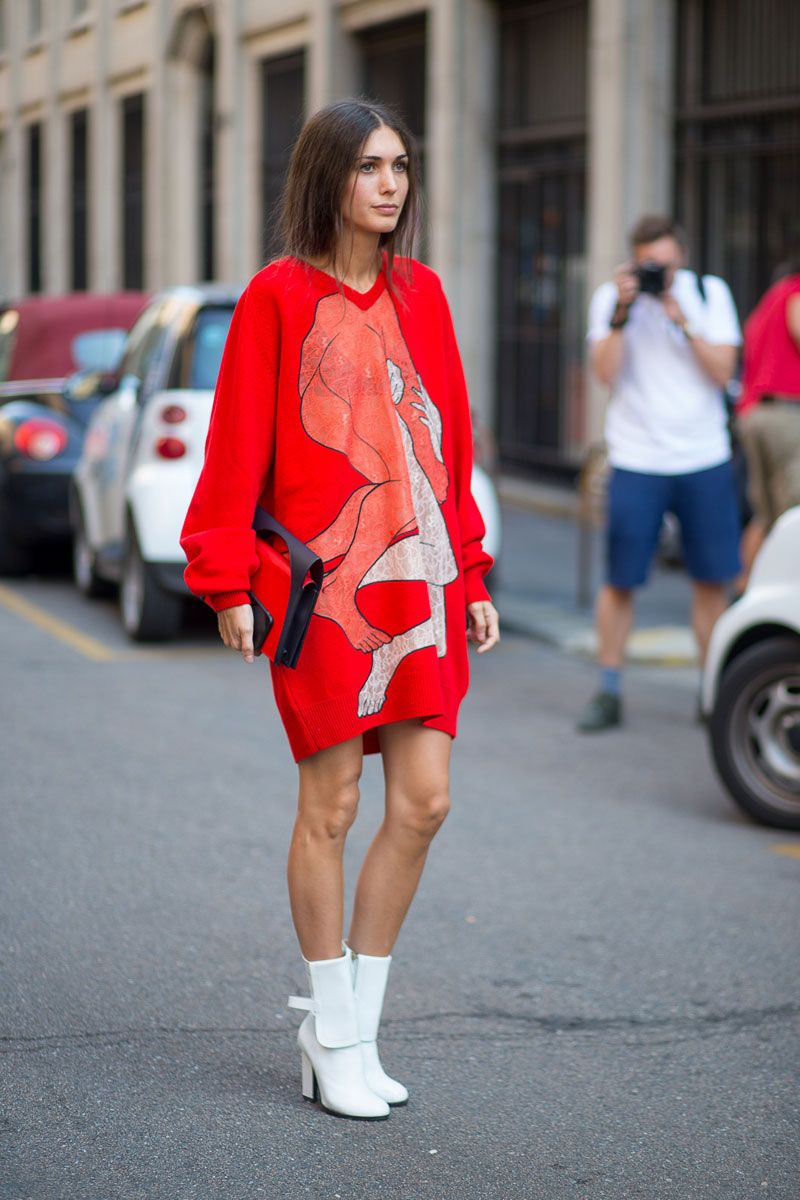 Image result for sweatshirt dress street style
