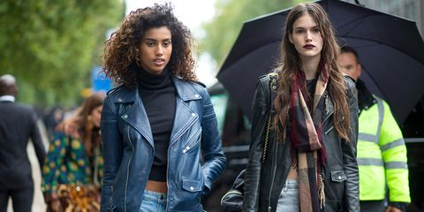 Jacket, Hairstyle, Coat, Jheri curl, Textile, Outerwear, Denim, Style, Street fashion, Collar,