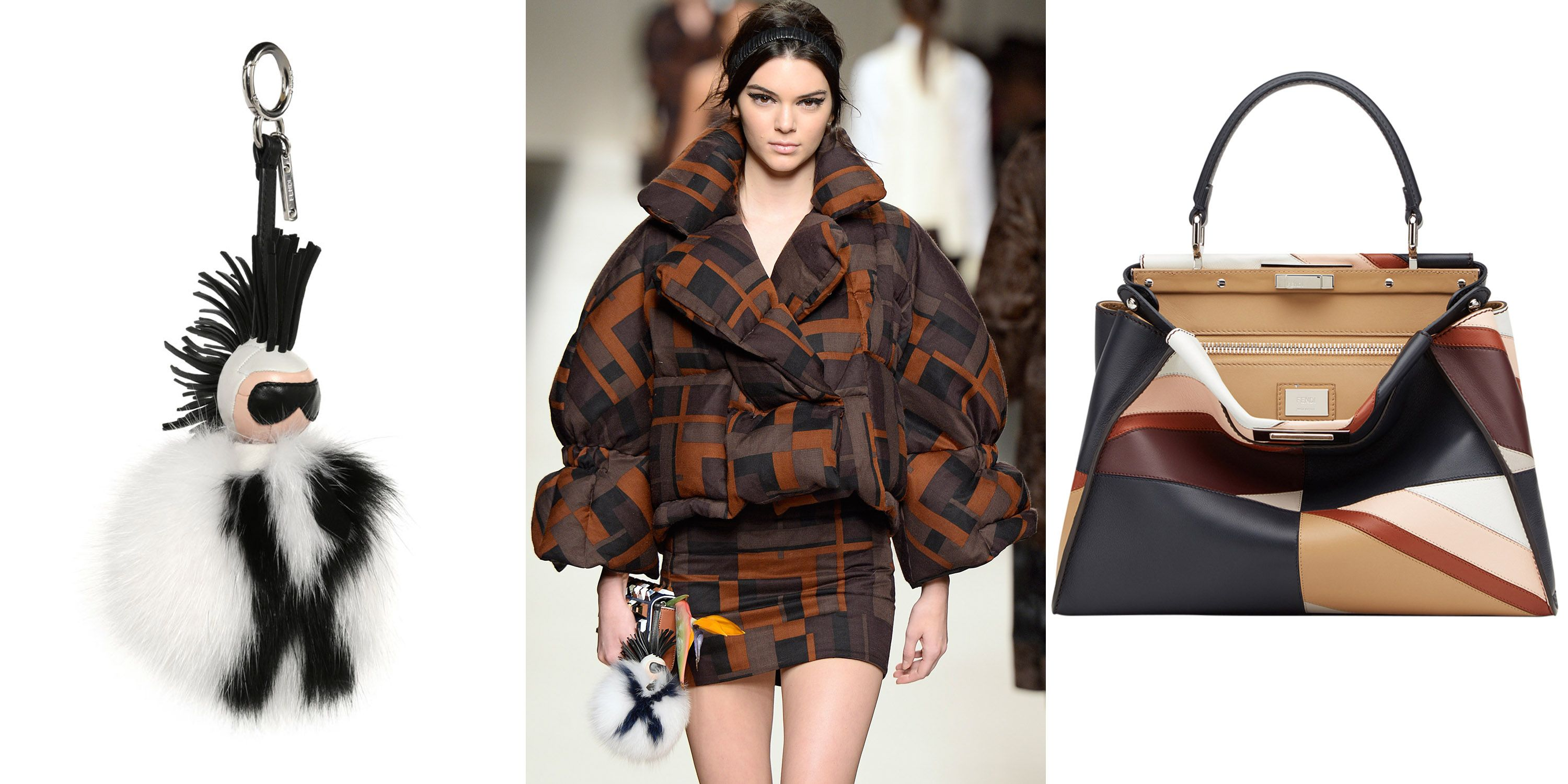 "<p>Karl Lagerfeld's legendary ingenuity has put Fendi's accessories among the most covetable season after season. Quirky fur add-ons and geometric bags were just a sampling of our favorites for fall. </p><p><i>Fendi Karlito keychain, $1,450, </i><a href=""https://shop.harpersbazaar.com/designers/fendi/karlito-fur-keychain/""><i>shopBAZAAR.com</i></a><i>&#x3B; Fendi bag, $5,300, </i><a href=""https://shop.harpersbazaar.com/designers/fendi/peekboo-medium-patchwork-bag/""><i>shopBAZAAR.com</i></a></p>"