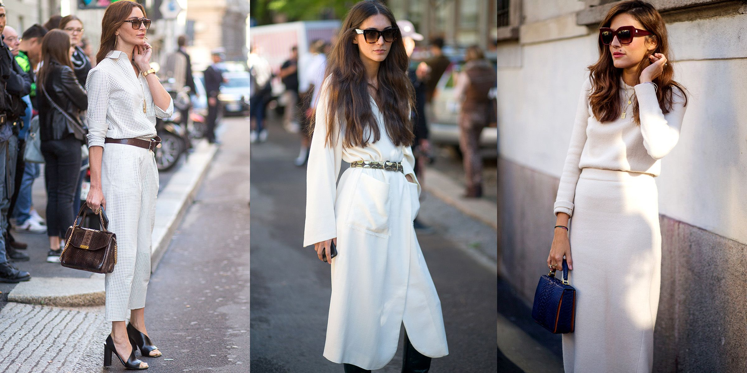 <p>Take a cue from these glamorous show-goers spotted this week, and indulge in the luxurious simplicity of an all-white ensemble. Only further proof that great minds think alike. </p>