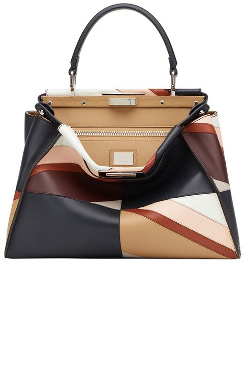 "<p>        <strong>Fendi</strong> bag, $5300,<strong> <a href=""https://shop.harpersbazaar.com/designers/fendi/peekboo-medium-patchwork-bag/"" target=""_blank"">shopBAZAAR.com</a></strong>.</p>"