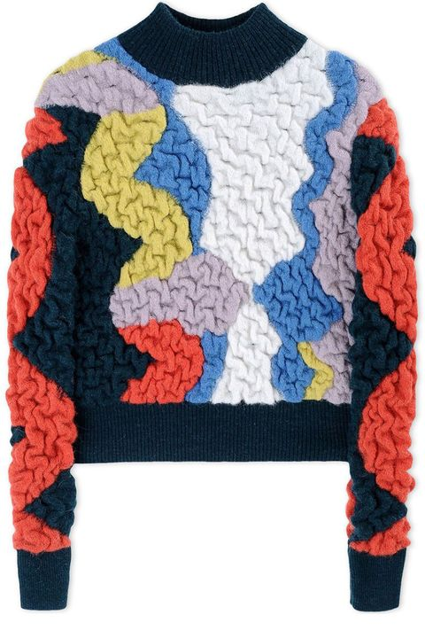 "<p><strong>Peter Pilotto</strong> sweater, $890, <strong><a href=""https://shop.harpersbazaar.com/designers/p/peter-pilotto/multi-colored-turtleneck-sweater-5951.htm"" target=""_blank"">shopBAZAAR.com</a></strong>.</p>"