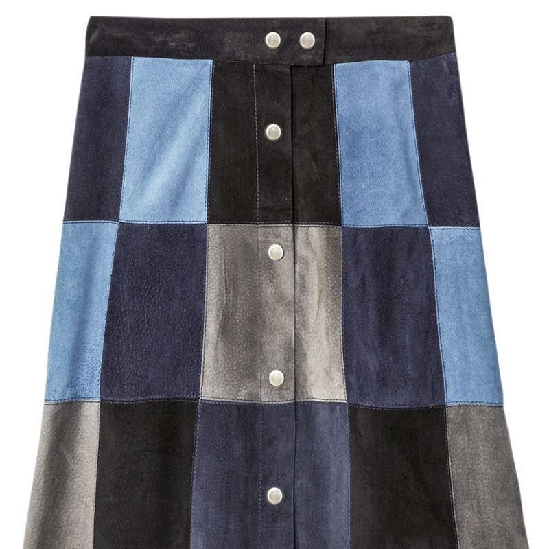 """<p>        <strong>Sea</strong> Skirt, $695, <strong><a href=""""https://shop.harpersbazaar.com/Designers/S/Sea/Patchwork-Suede-Skirt-5776.html"""" target=""""_blank"""">shopBAZAAR.com</a></strong>.</p>"""