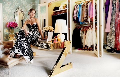 <p>Dig through all the nooks and crannies of your current closet before making new purchases, because chances are you, like me, tend to buy the same things over and over again. This gut check will help you avoid a closet full of duplicates and allow each new piece to earn its keep. </p>