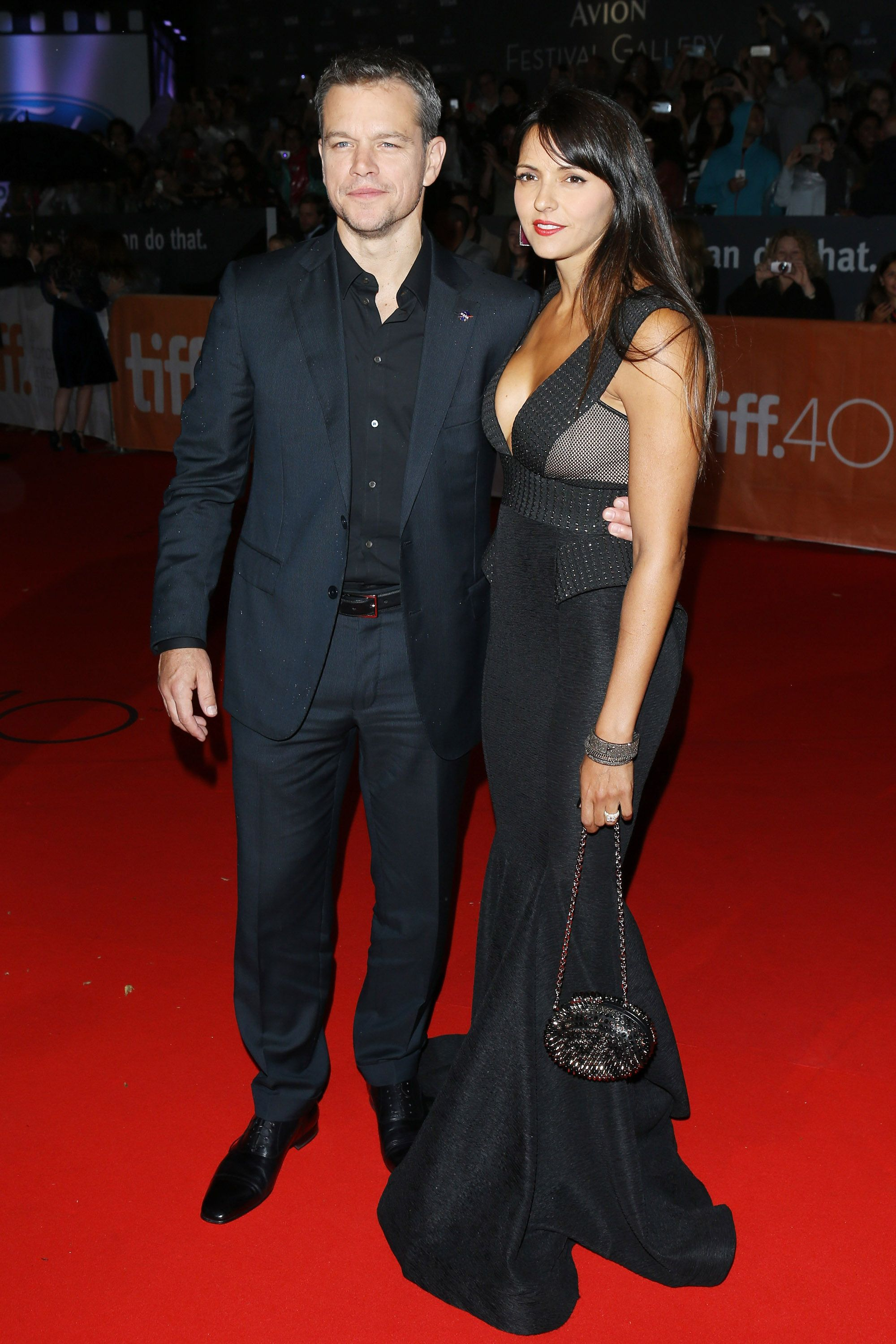 <p>Damon met Luciana Barroso, a bartender, while on location filming a movie in Miami—the couple tied the knot in 2005 and have three daughters.</p>